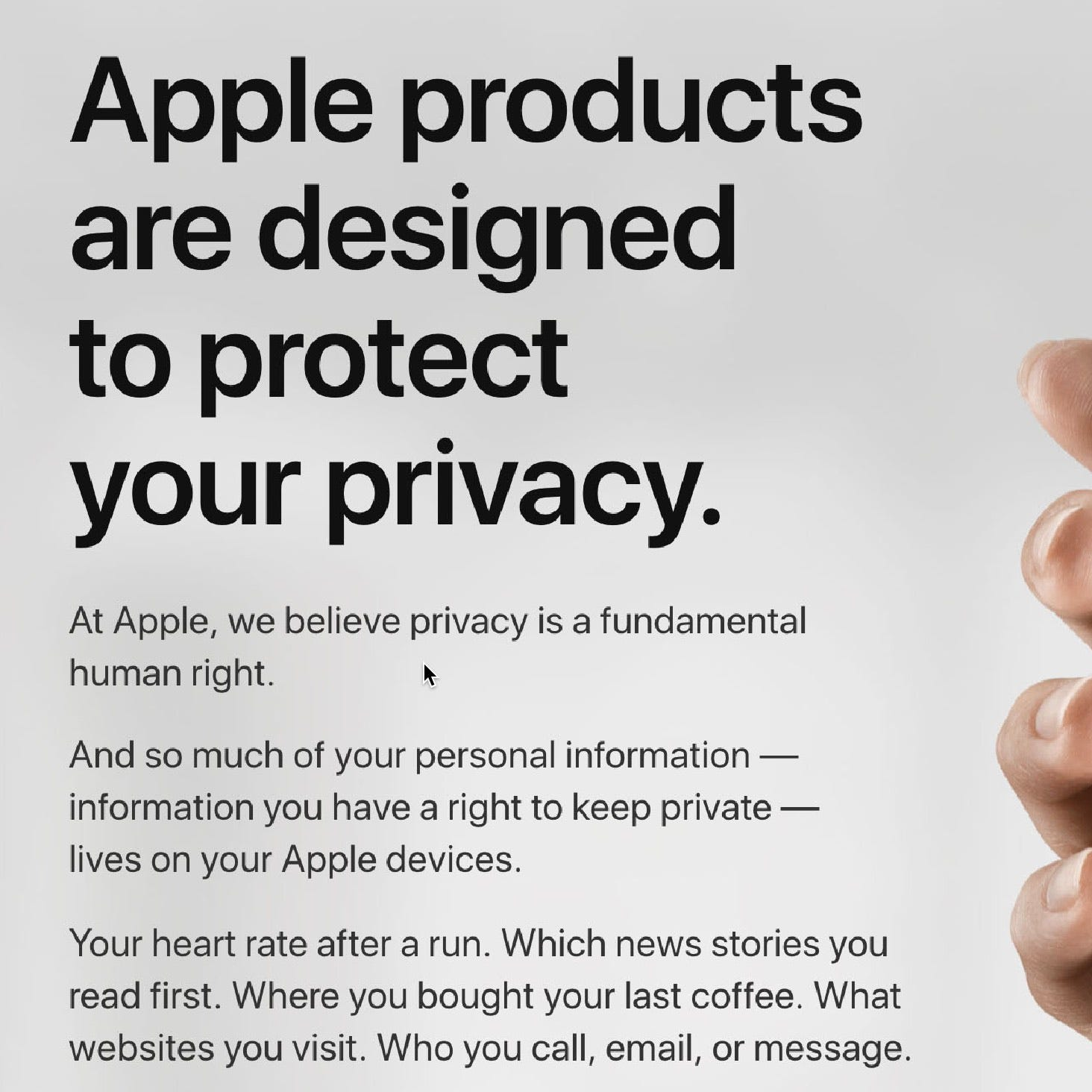 Apple's updated privacy website