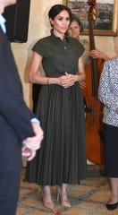 Duchess Meghan attends an afternoon reception hosted by the Governor-General and Lady Cosgrove during Day one of their tour, on Oct. 16, 2018 in Sydney, Australia.
