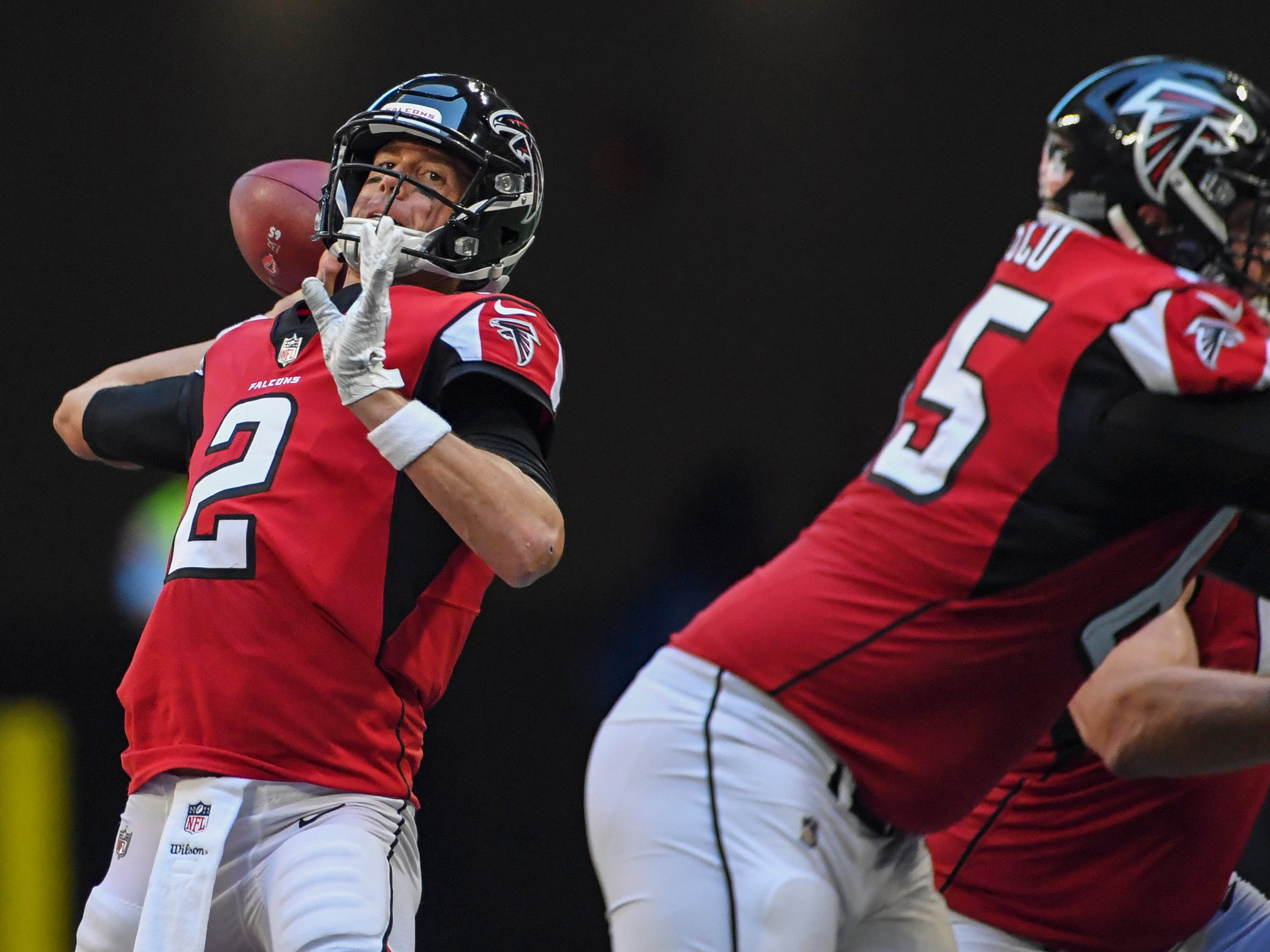 16. Falcons (21): Matt Ryan's 2016 season was starting to look like major statistical outlier, but this year's numbers approaching or exceeding MVP levels.