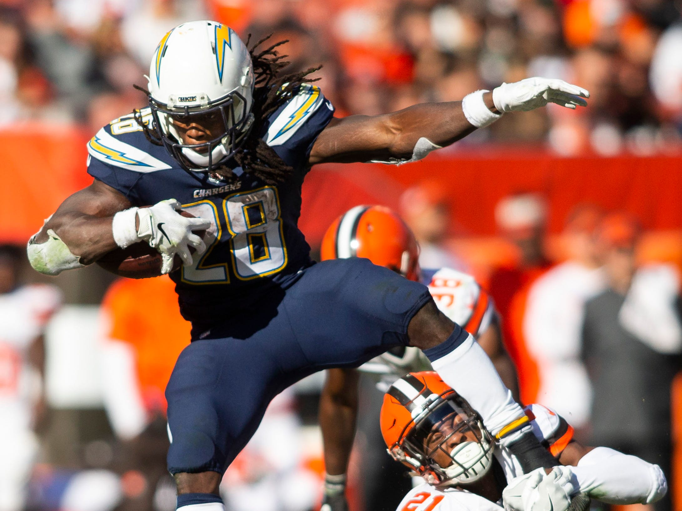 5. Chargers (5): Remember when Melvin Gordon was barred from end zone in his 2015 rookie year? He has 33 TDs since, more than anyone but Todd Gurley (36).