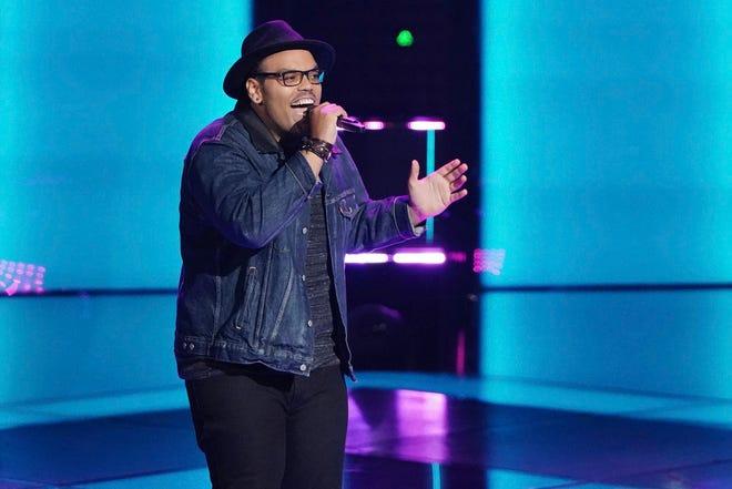 Matt Johnson performs on 'The Voice.'