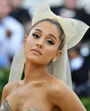 Ariana Grande is getting real about her battle with anxiety. Here, the pop superstar arrives for the 2018 Met Gala at the Metropolitan Museum of Art on May 07, 2018.