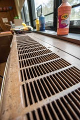 A 50-year-old classroom vent that needs replacement as part of Keport's schools referendum