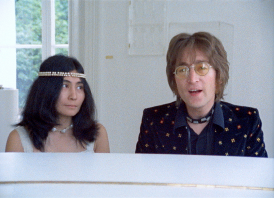 "Yoko Ono and John Lennon in a scene from ""Imagine,"" playing the ShowRoom Cinema in Asbury Park on Oct. 21."