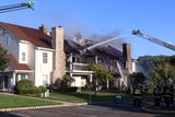 Fire ripped through a condominium structure on Des Moines Avenue