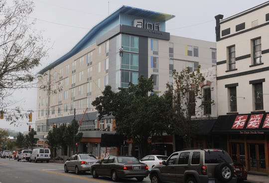 The Aloft Hotel in downtown Asheville has rooms going for $493 a night during peak leaf season.