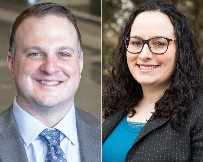Republican Matt Hall faces Democrat Jen Aniano in the Nov. 6 general election race for the 63rd District state representative seat. Libertarian Ronald Hawkins and Green Party Candidate John Anthony La Pietra are also running.