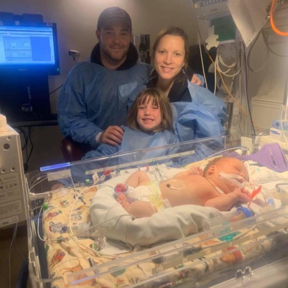Newborn Wyatt Plew is battling neuroblastoma.