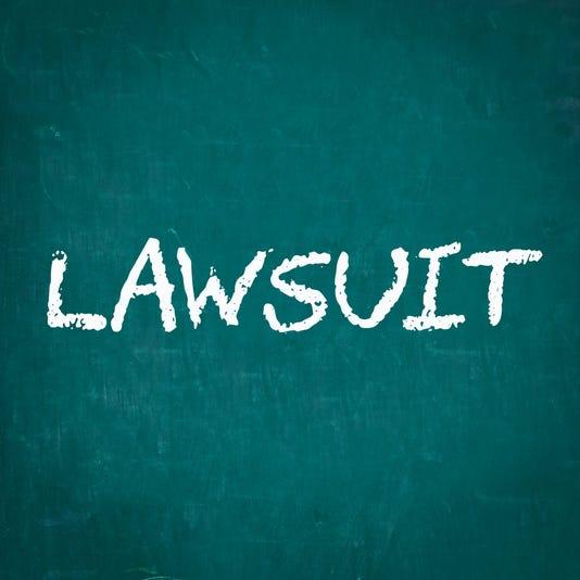 Lawsuit Written On Chalkboard