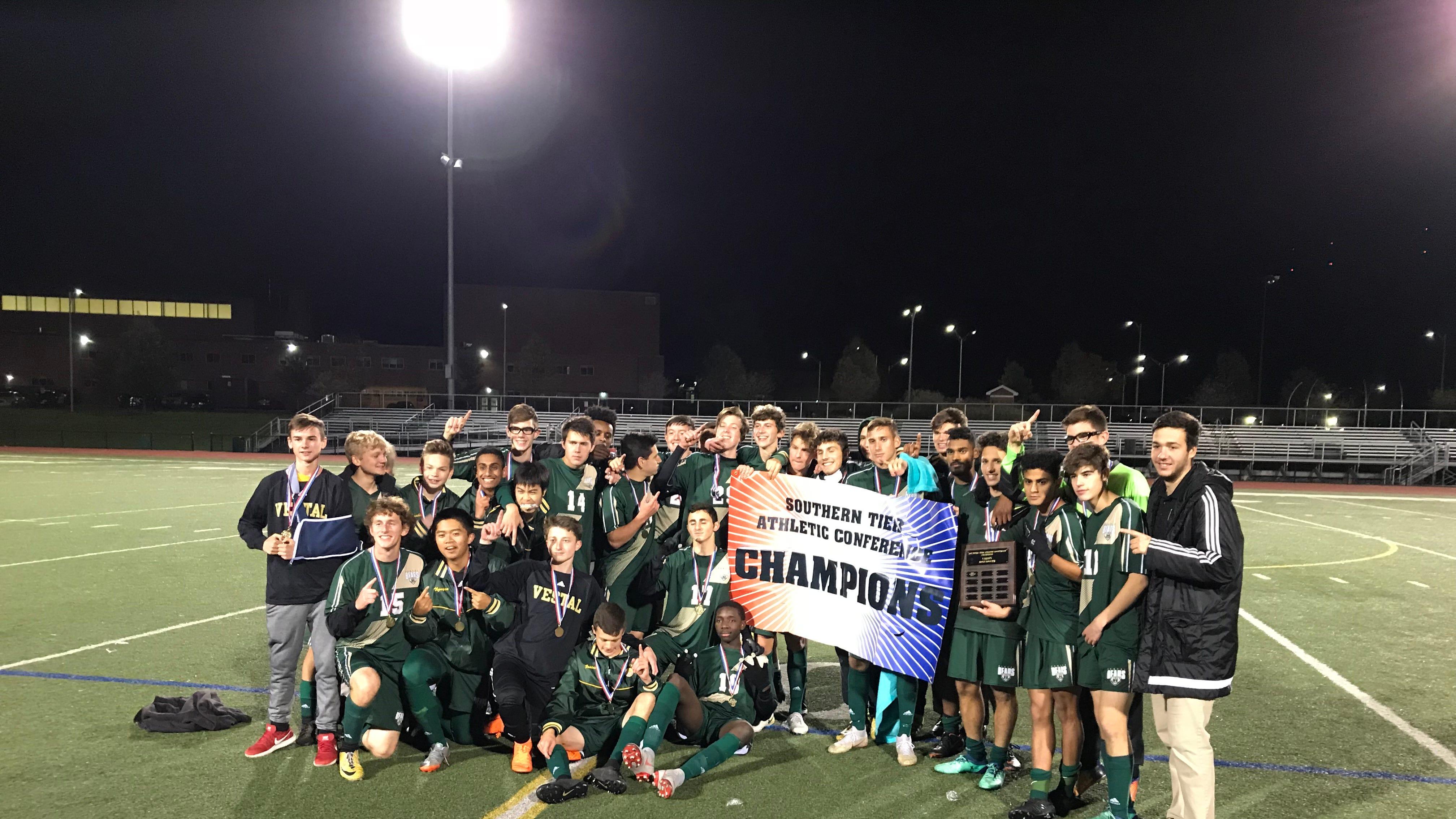 Vestal Golden Bears, 2018 STAC soccer champions.