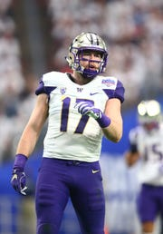 Tevis Bartlett is back at his old position of middle linebacker, and is the Washington Huskies' second-leading tackler.