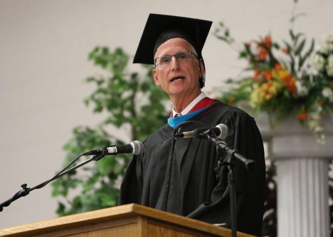 Central Kitsap School District Superintendent David McVicker at CK High School's 2018 graduation.