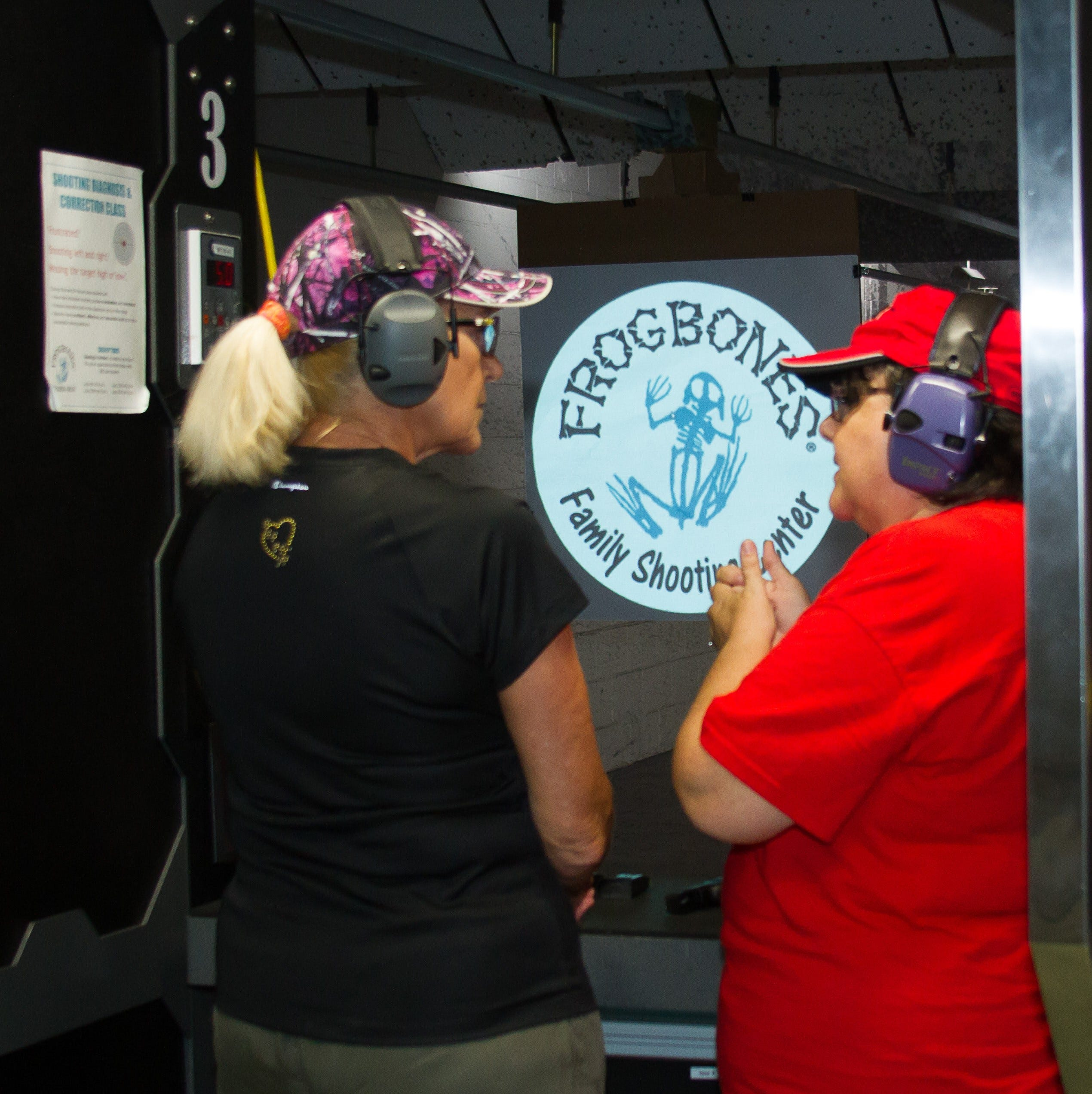 Women bond over handguns and dinner at Frogbones in Melbourne