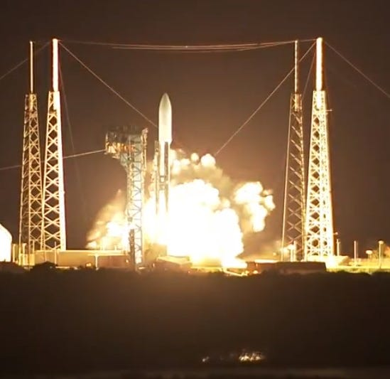 Powerful Atlas V rocket blasts off from Cape Canaveral with $1.8 billion Air Force satellite