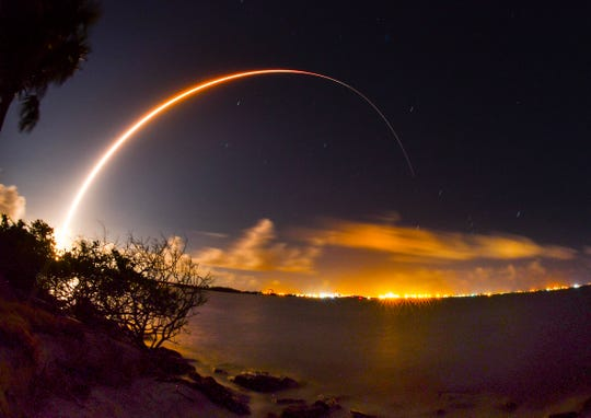 A United Launch Alliance Atlas V rocket launches from Cape Canaveral Air Force Station with the AEHF-4 military communications satellite on Wednesday, Oct. 17, 2018.