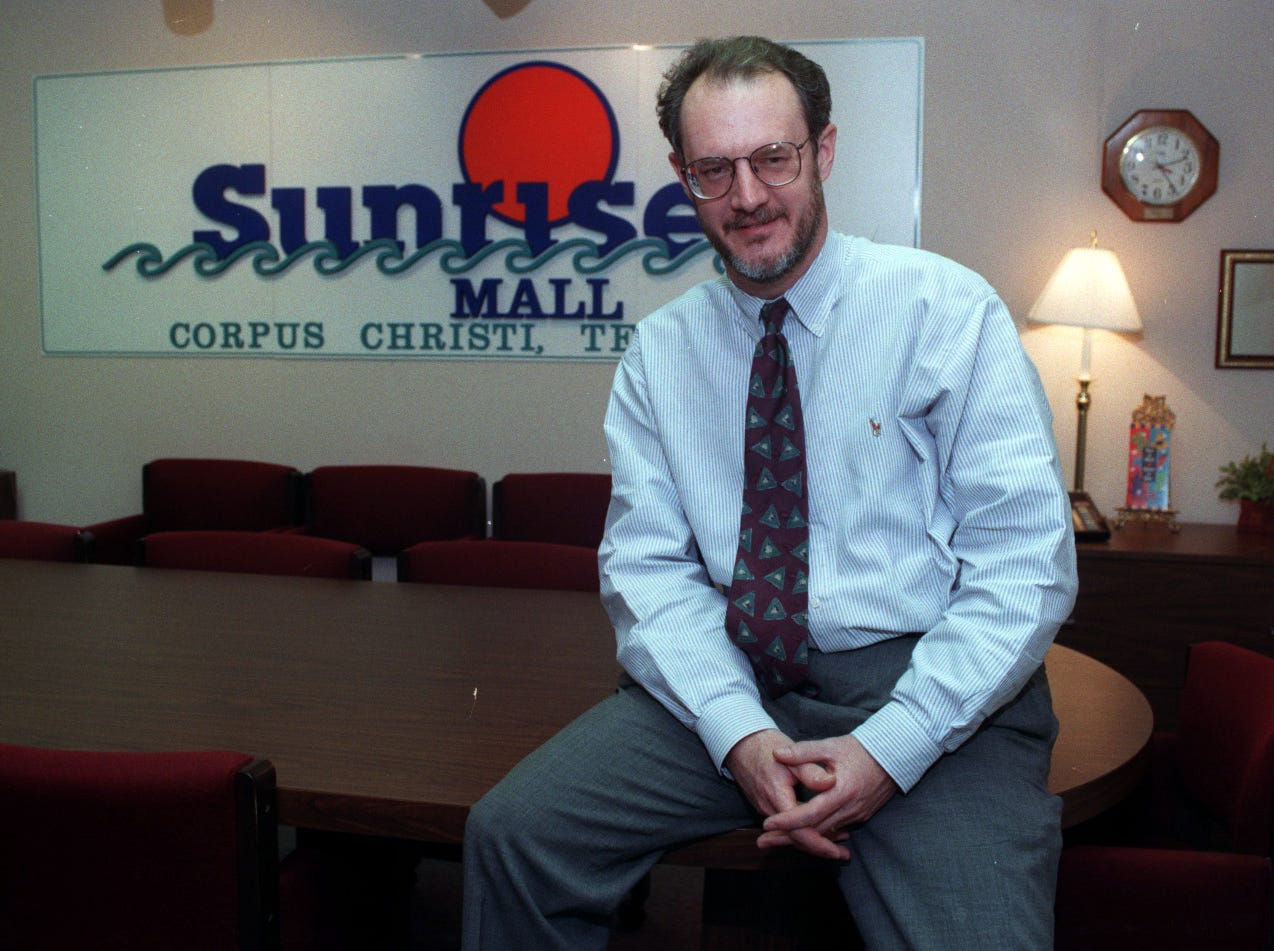Sunrise Mall general manager, Brian Griffin in the mall office's boardroom March 26, 1998.