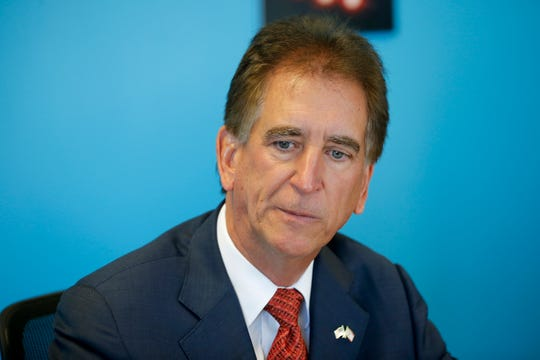 Jim Renacci, U.S. Representative, 16th district of Ohio, speaks to The Cincinnati Enquirer editorial board Wednesday October 17, 2018.
