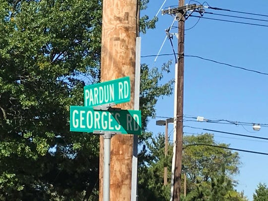 The intersection of Pardun Road and Georges Road where the North Brunswick Gardens apartment complex, where Gail Hariton lived, is located.