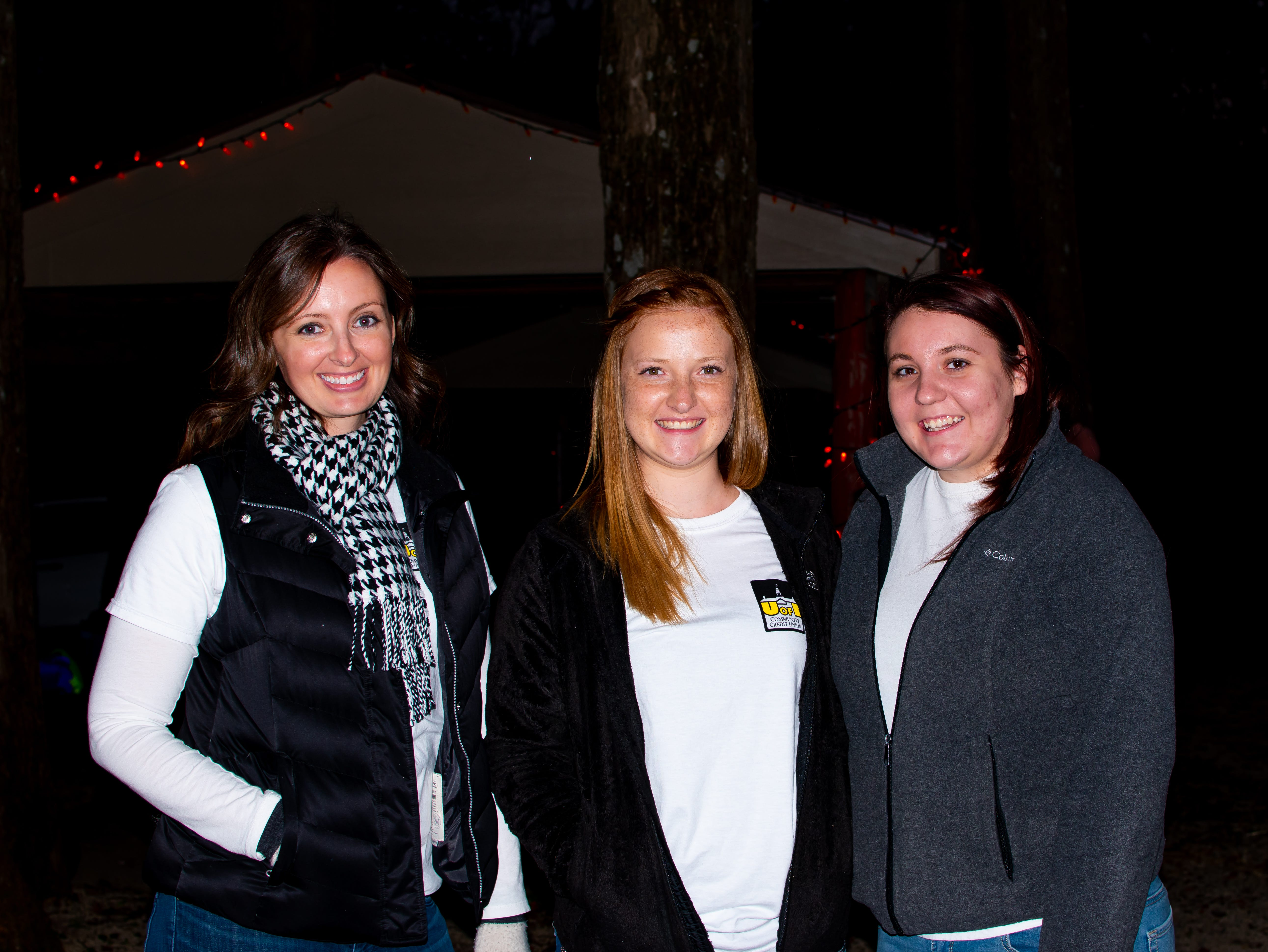 Jolisa Fagen, of Waukee, Sarah Balk, of Van Meter, and Cassidy Benedict, of Redfield attend Tuesday, Oct.16, 2018 for the Waukee Area Chamber of Commerce fall after hours party at Timberline Campground in Waukee.