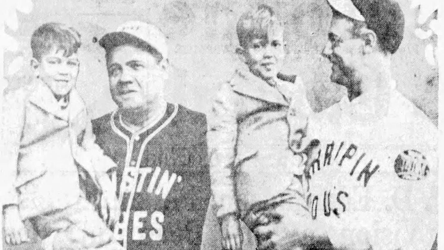 From the archives: Yankees Babe Ruth and Lou Gehrig played in Des Moines after winning the 1927 World Series
