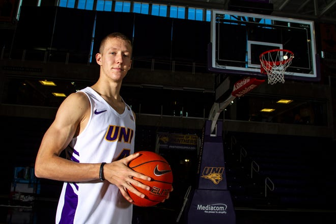Northern Iowa guard A.J. Green poses for a portrait during Panthers men's basketball media day on Wednesday, Oct. 17, 2018, at the McLeod Center in Cedar Falls.