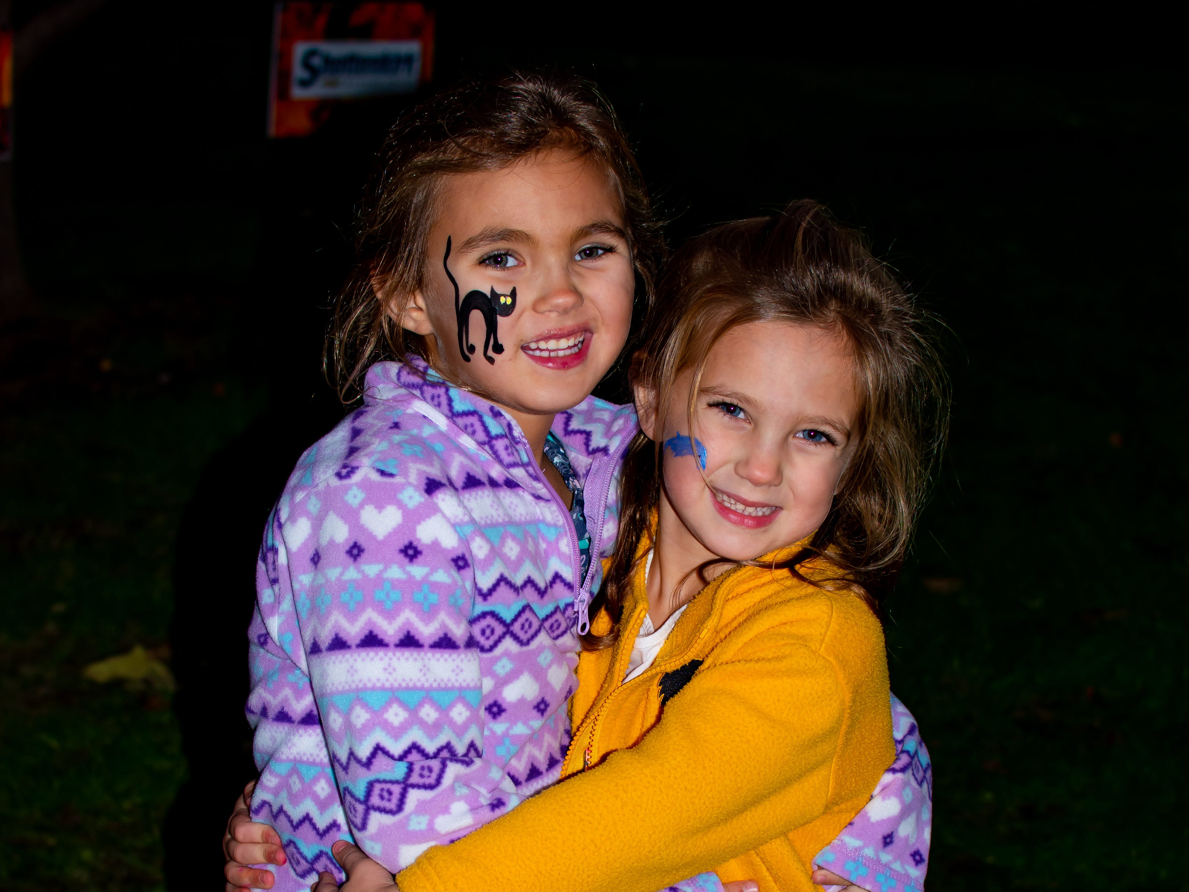 Avery and Beckett, 4 and 2, both of Waukee,  had their faces painted on Tuesday, Oct. 16, 2018 for the Waukee Area Chamber of Commerce fall after hours party at Timberline Campground in Waukee.