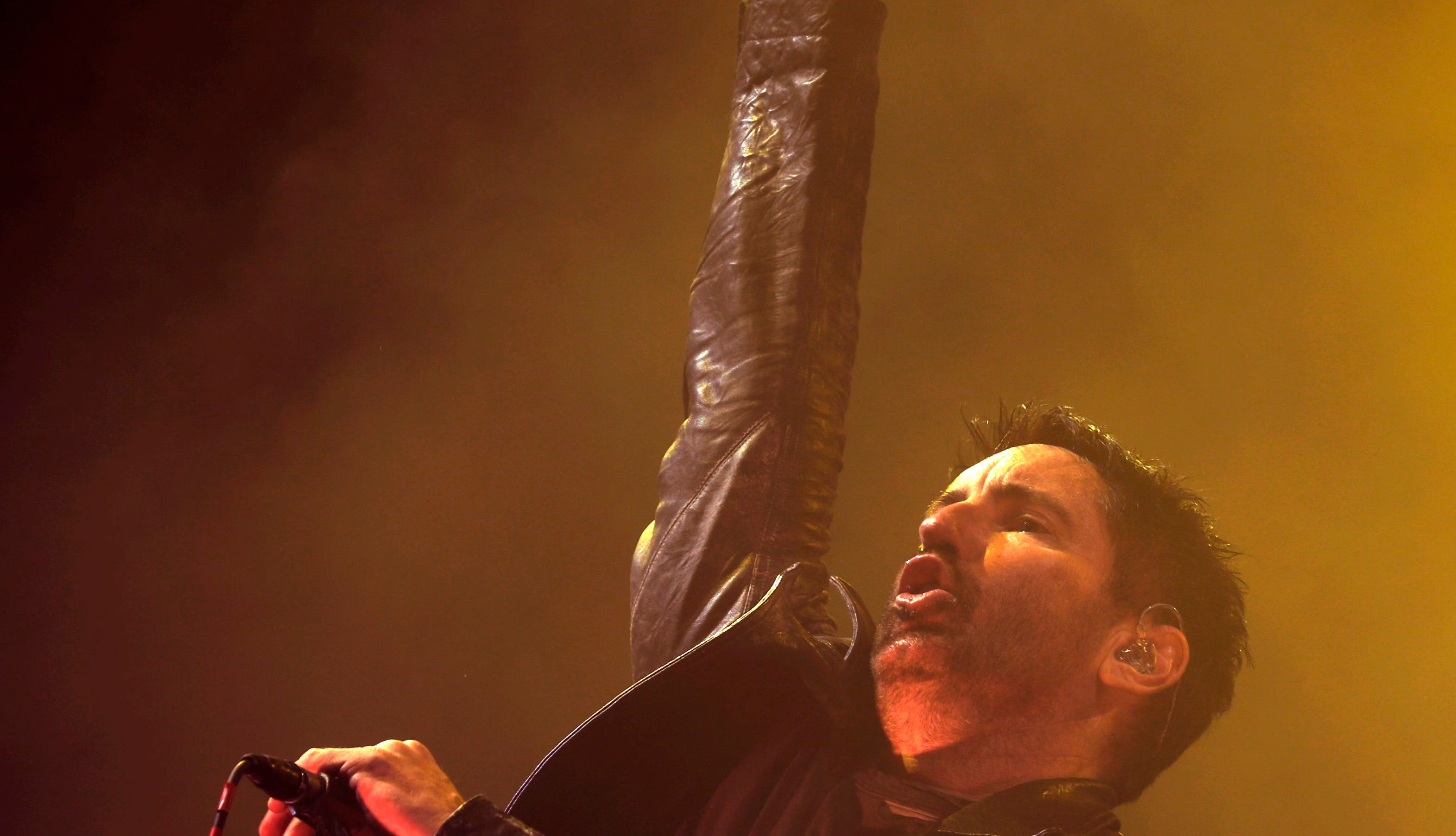 Trent Reznor of Nine Inch Nails performs during the 12th Alive Music Festival in Oeiras, Portugal, on July 12, 2018.
