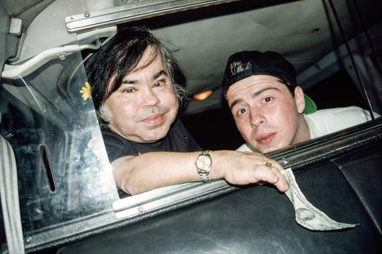 """The real Herve Villechaize pictured with """"My Dinner with Herve"""" writer-director Sacha Gervasi."""