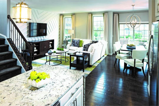 The finishing touches for each townhome are customized to the homeowners' tastes.