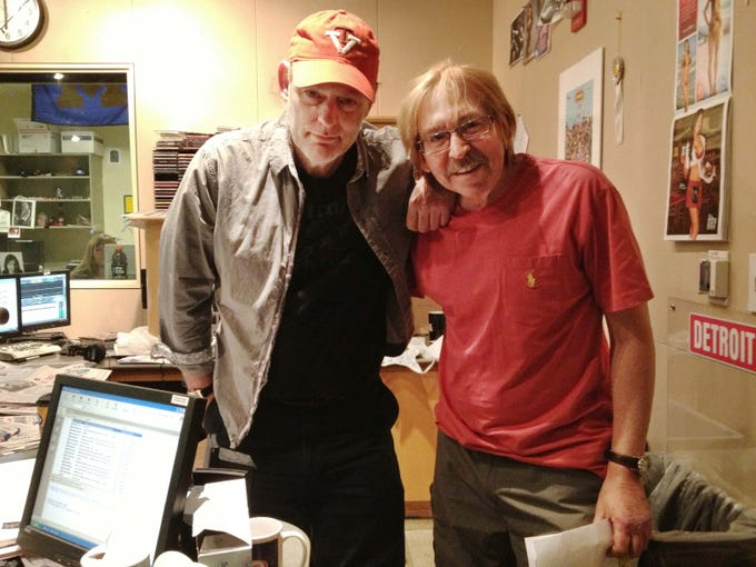 Drew and Mike during their last radio show on WRIF Friday, May 17,2013.