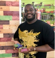 Lamont Muhammad owned the Back 2 Eden store in Tower Center mall in Detroit in October 2018. His two storefronts sell organic soaps, oils and skin care products.