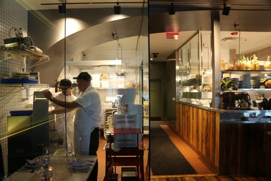 Flour for pastas and bread is milled in-house in a glass-fronted pasta room in full view of the dining room at SheWolf Pastificio & Bar in Detroit's Cass Corridor/Midtown neighborhood.