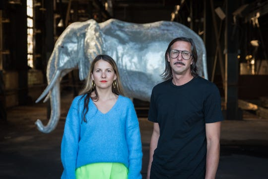 Conceptual artists Dorota and Steve Coy, who operate under the moniker Hygienic Dress League, have created three installations on the site of a former DTE power plant that explore the disconnect between humanity, value and environment.