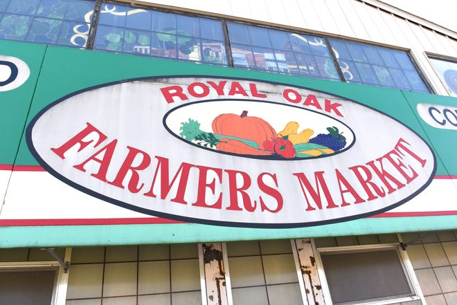 The famed sign outside the Royal Oak Farmers Market as seen on Saturday October 13, 2018 has welcomed customers for decades.