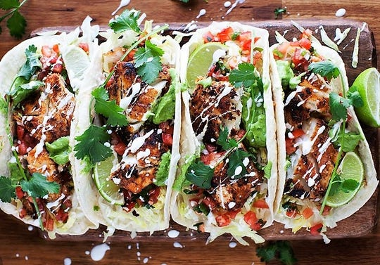 Grilled chicken tacos from Denise Rapp's Moveable Feast.