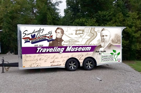 the Sandusky County Communities Foundation awarded $9,280 to the Sandusky County Bicentennial 2020 committee for a trailer to serve as a traveling history museum.