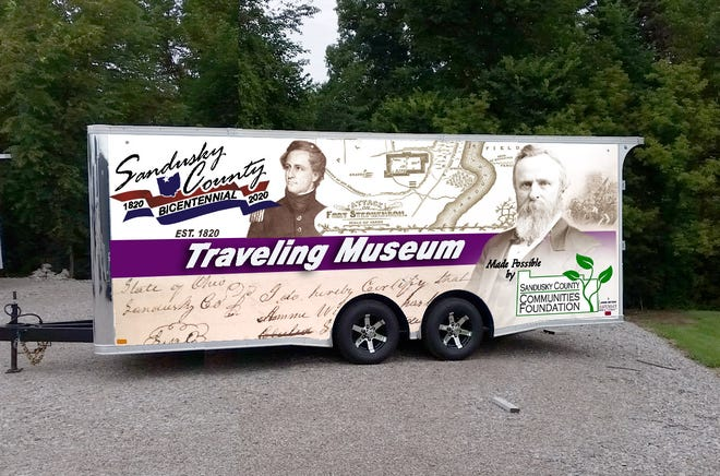 A trailer is serving as a traveling history museum in honor of Sandusky County's 200th anniversary. Most bicentennial events will be held next year.
