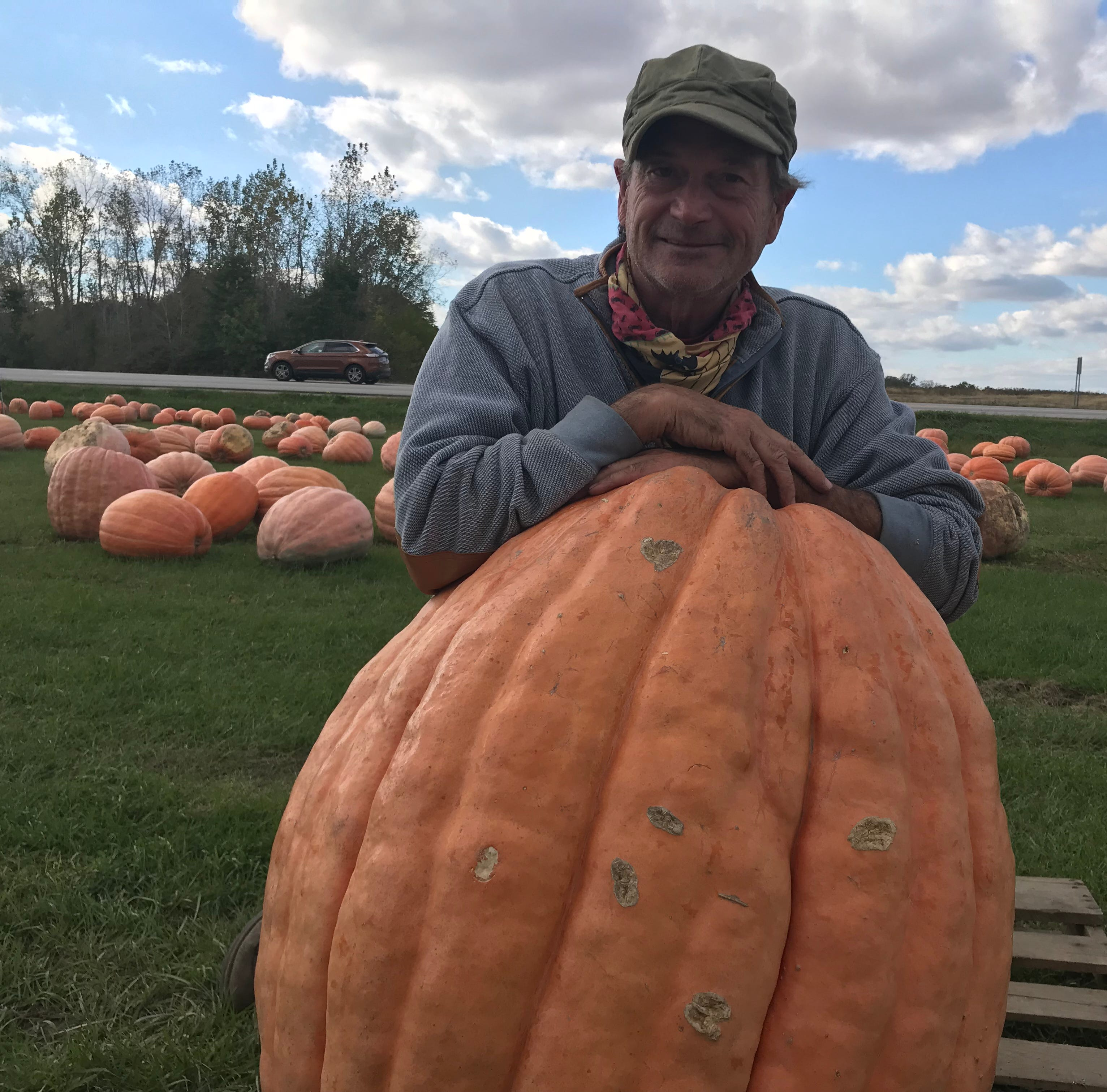 Fremont farmer goes big with crop of giant pumpkins