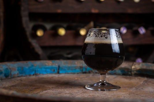 Dark Beer In A Cellar