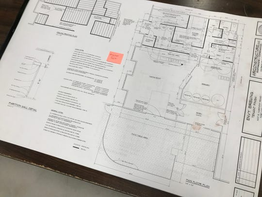 Blueprints for Envy Brewing in Fort Collins.