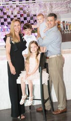 Richard and Jennifer Shanahan with their family at Southwest Florida Event Center in Bonita Springs