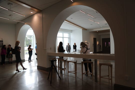 The Collaboratory in downtown Fort Myers is a public-private partnership with the Southwest Florida Community Foundation and the city of Fort Myers. The building includes the historic train depot and a new LEED addition that includes the Foundation's regional headquarters and a shared space for the community and tenants.