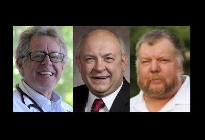 6th Wisconsin Assembly District candiates, from left: Democrat Richard Sarnwick, Republican Gary Tauchen and Libertarian Mike Hammond