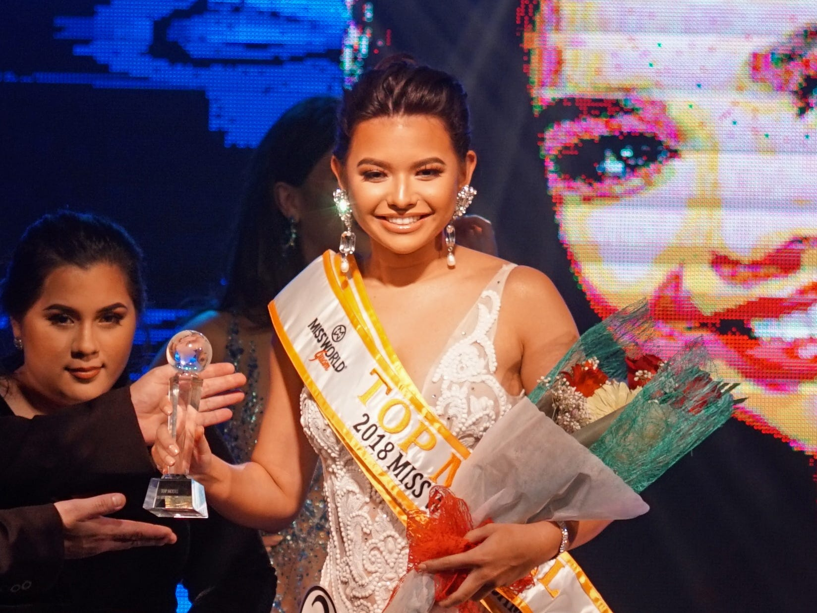 Contestant #2 Gianna Camacho Sgambelluri, 18, from Barrigada, wins the Top Model category at the 2018 Miss World Guam pageant held at Sheraton Laguna Guam Resort.