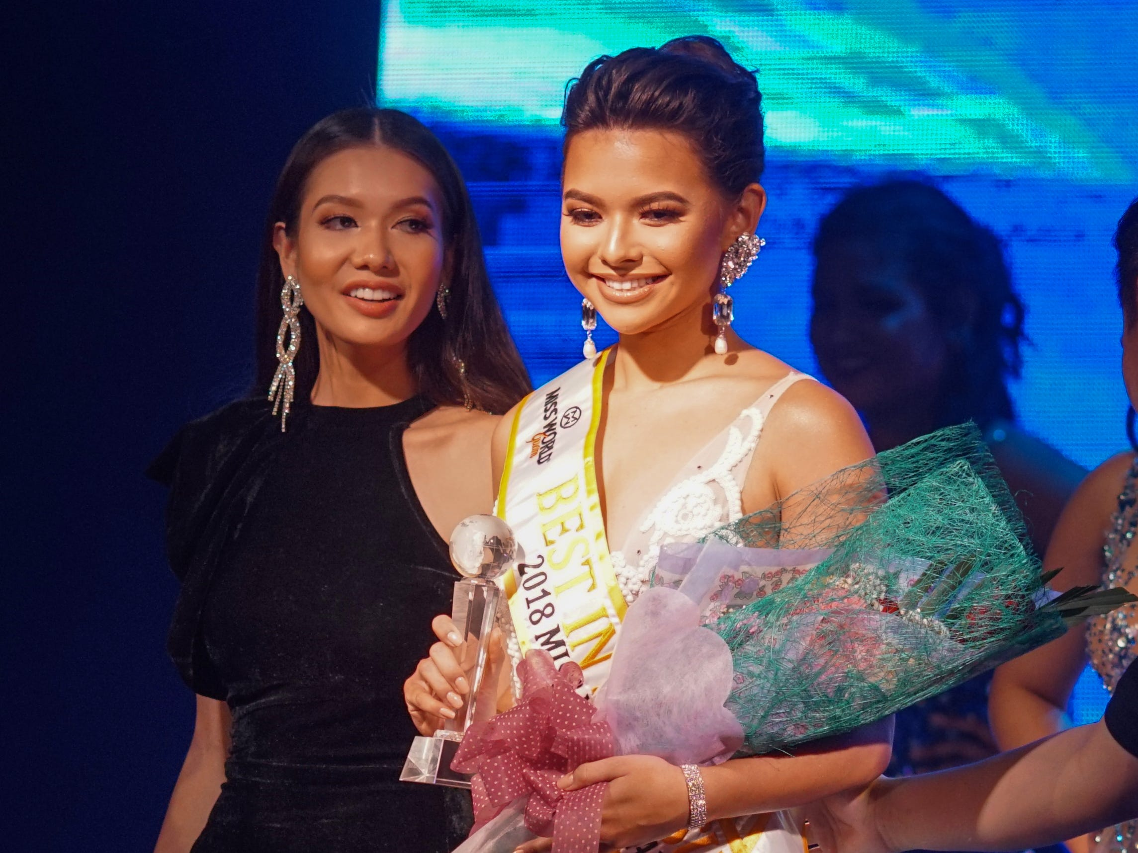 Contestant #2 Gianna Camacho Sgambelluri, 18, from Barrigada, wins Best in Swimsuit category at the  2018 Miss World Guam pageant held at Sheraton Laguna Guam Resort.