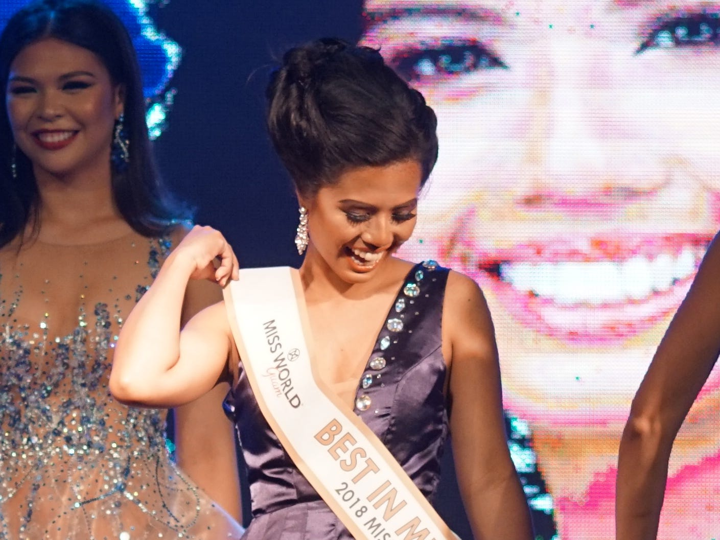 Grace Enriquez, 24, from Barrigada, 6th contestant wins the Best in Multimedia award at the 2018 Miss World Guam pageant held at Sheraton Laguna Guam Resort.