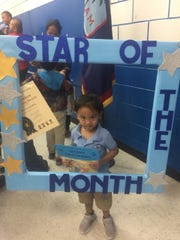 Ezren Escuadra, a student at Marcial A. Sablan Elementary School is the Pilot PreK Student of the Month for September. He is in Mrs. Cruz and Ms. Kristy's class.