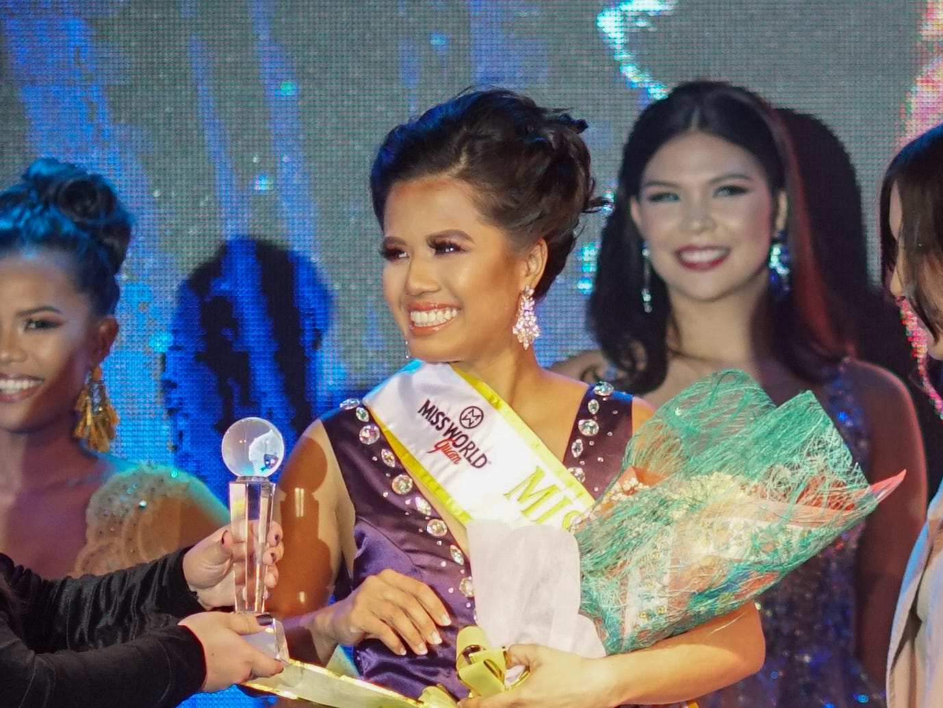 Grace Enriquez, 24, of Barrigada, 6th contestant wins the Miss Congeniality award at the  2018 Miss World Guam pageant held at Sheraton Laguna Guam Resort.