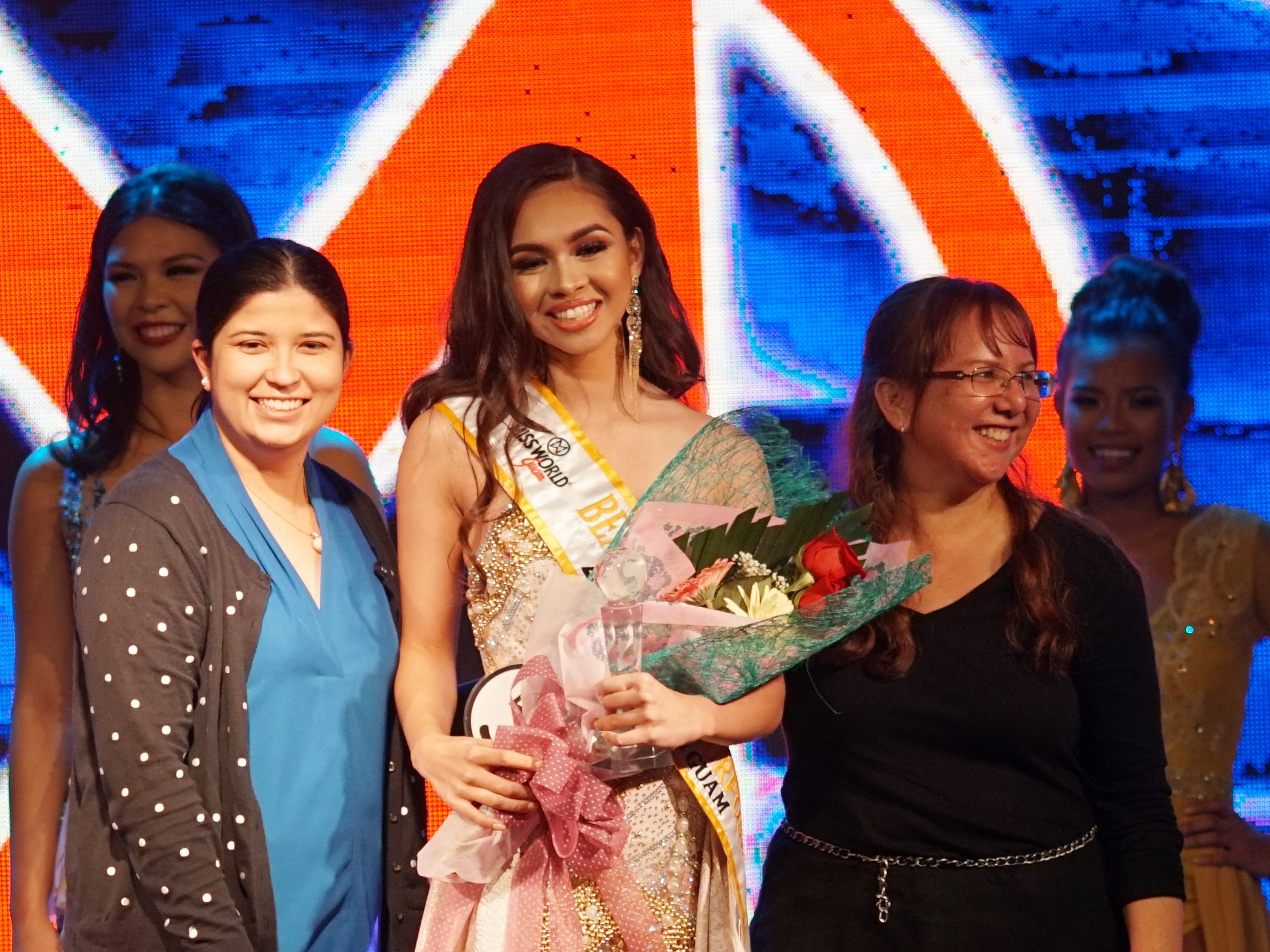 Contestant #5 Cyndal Abad, 18, from Dededo, wins the Beauty with a Purpose award at the 2018 Miss World Guam pageant held at Sheraton Laguna Guam Resort.