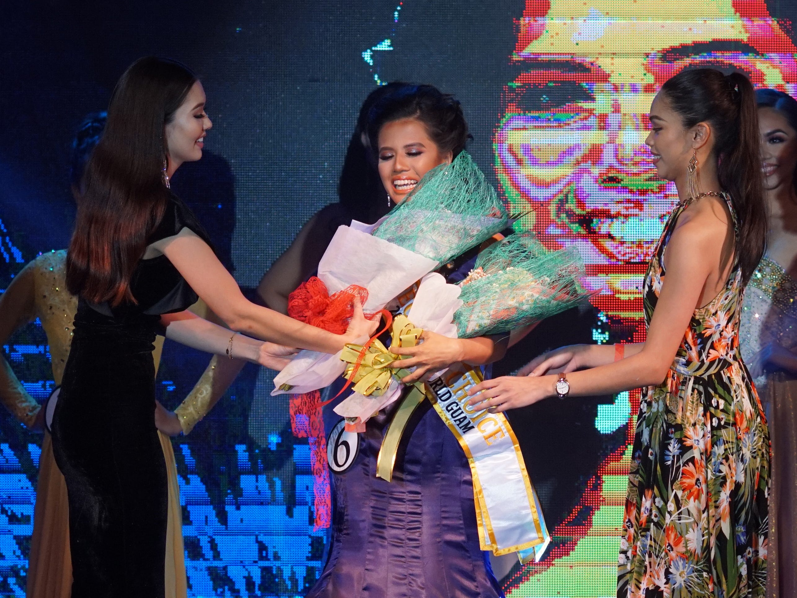 Contestant #6 Grace Enriquez, 24, of Barrigada, wins the People's Choice award at the 2018 Miss World Guam pageant held at Sheraton Laguna Guam Resort.